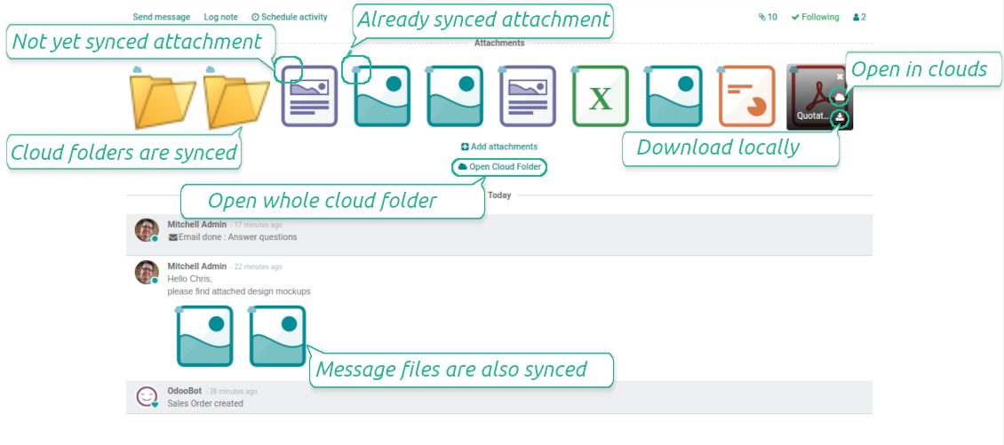 Integrate Odoo and OneDrive / SharePoint