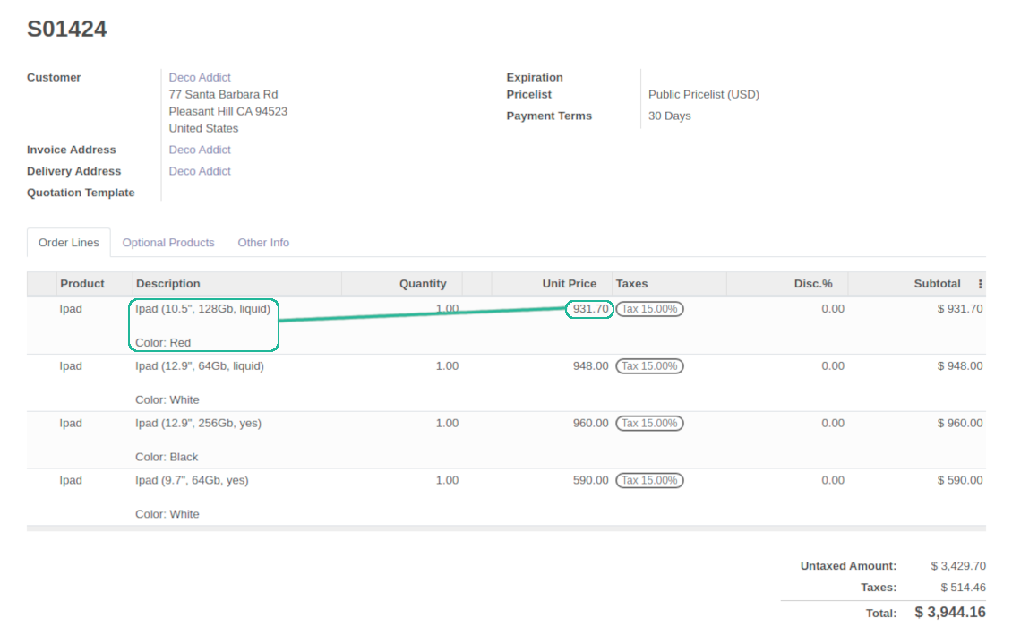 Advanced pricing for Odoo sale orders
