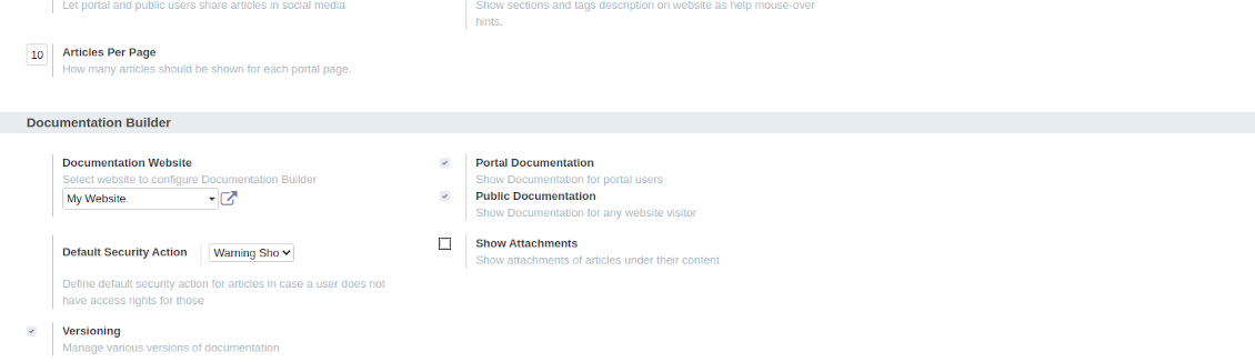 Set up your own Odoo documentation