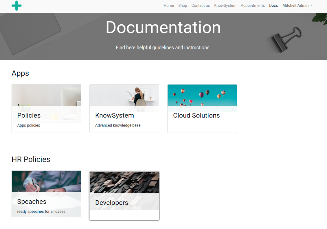 Odoo documentation overview
