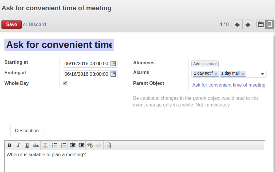Odoo Merge and share objects in one view