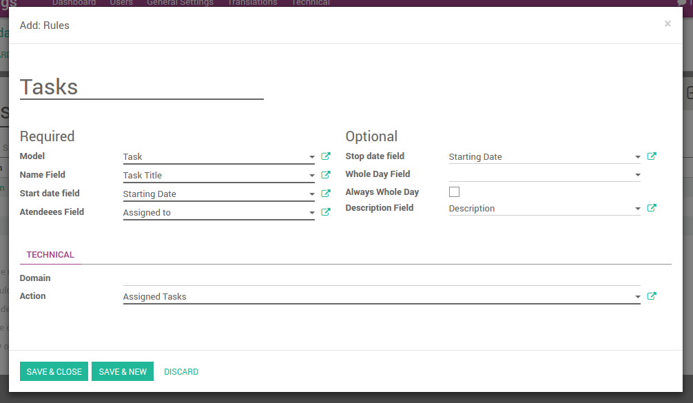 Odoo joint tasks