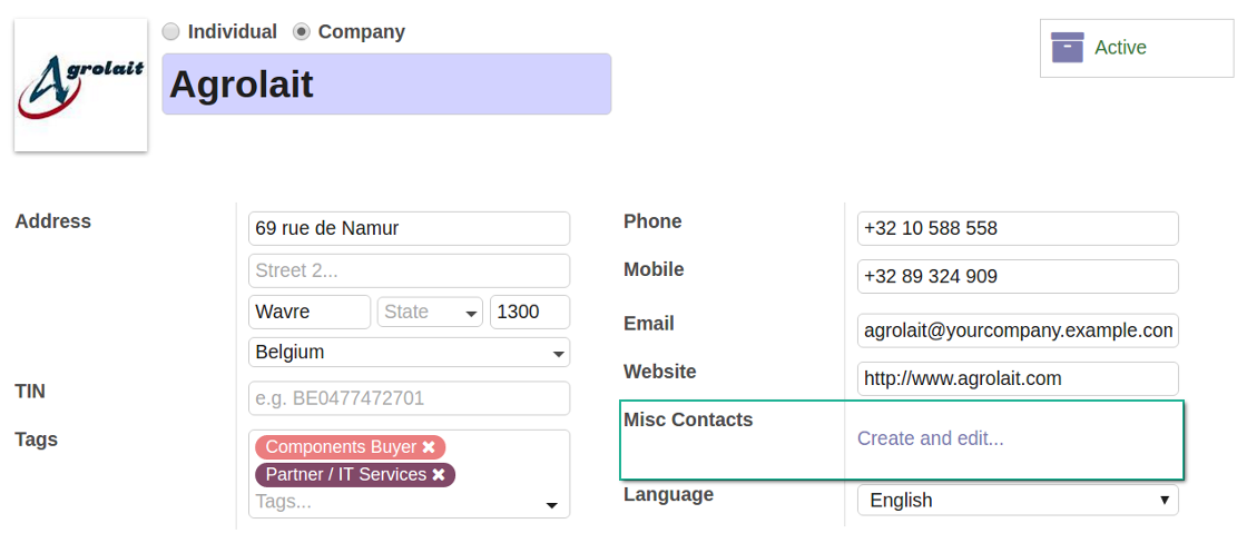 Multiple contact details for Odoo contacts