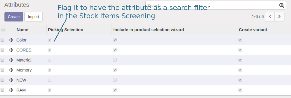 Odoo Product attributes as search criteria