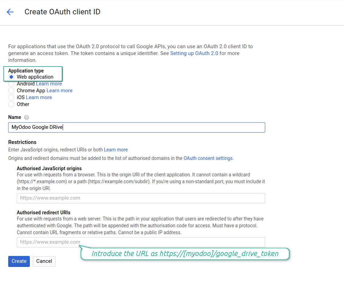 Google Drive Odoo Integration