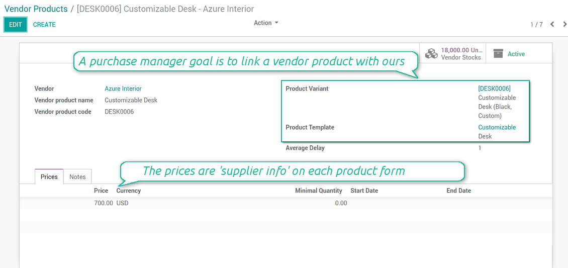 Supplier products in Odoo